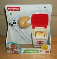Fisher Price Fun Food Servin Surprises Chinese Takeout Dinner Play Pretend Toy