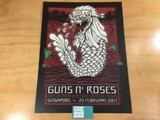 Guns N' Roses Not In This Lifetime World Tour Singapore 2 25 17 Lithogram Poster