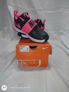 Nike Team Hustle D 8 (TD) Black/Pink/White Toddler Boy's Shoe-Sz 12C