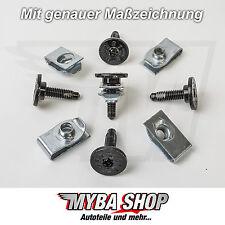 5x metallo VITI TORX T30 M6 + SUPPORTO CLIP Jeep GM CHRYSLER FORD # NUOVO#