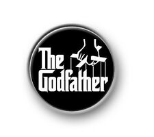 "THE GODFATHER 1"" / 25mm pin button / badge / crime / mafia / Pacino / Brando"