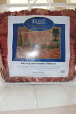 """SHAVEL HOME PRODUCTS 3PC LUXURY PILLOW ENSEMBLE PATTERN """"VENECIA RED"""" NIP"""