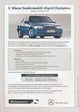 Mercedes C-Klasse Esprit Champion Preisliste 2.2.98 price list 1998 Auto PKWs
