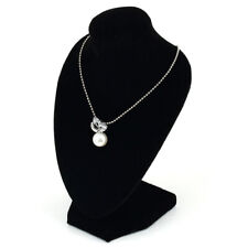 Black Mannequin Velvet Jewelry Necklace Bust Earring Pendant Display Stand USA