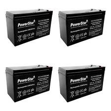 12V 7AH Sealed Lead Acid (SLA) Battery - T1 Terminals - for ZB-12-7 - 4PK