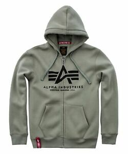 Alpha Industries Basic Zip Hoody Hoodies / Sweatshirts Olive