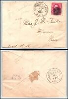 1894 US Postal History Cover - Boston & Troy RPO to Monson, Massachusetts H11