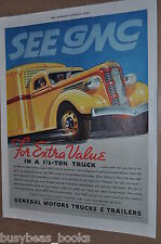 1937 GMC Truck advertising page, GMC 1½ Ton Truck, General Motors, Yellow