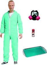 Breaking Bad Figure Jesse Pinkman Blue Hazmat Cook Suit 16cm Mezco PX