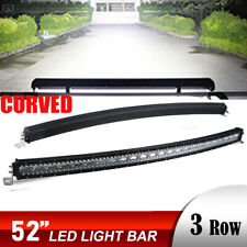 Curved 7D 52inch 3000W LED Light Bars Flood Spot Combo Driving Offroad Truck 54""