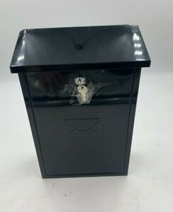 Post Box Black Lockable Used Good Condition (R4)(A)