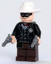 LEGO Disney Cowboy Minifigure The Lone Ranger With 2 Guns, Revolvers, Pistols