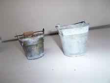 2 Kleine Metall Eimer Zinn Eimer-alt H-6 und 7,5cm durchm.7 und 8cm