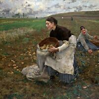 October by Jules Bastien-Lepage. Nice Life Art Repro. Choose Canvas or Paper