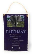 "Advice from an Elephant Animal Inspirational 5.5""x8.5"" Wood Plaque Sign for Wall"