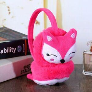Children's Winter Fluffy Earmuffs Cute Cartoon Animal Fox Plush Soft Ear Warmers