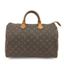 100% Authentic Louis Vuitton Monogram Speedy 35 Boston Travel Hand bag /40986