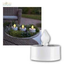 Solar Teelicht Kerzen 3er Set, Mini LED Kerze mit Lichtsensor, für Innen & Außen