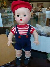 Vintage 1951 - 57 Hard Plastic Twin Boys Answer Yes/No Block Doll Co w/box