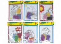 1x Kids Art Craft Set Indoor Activity Set Foam sticker sheet Paper Sprinkle Glue