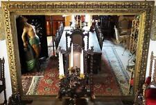 SERRATURA IN LEGNO SPECCHIO 2,8m enorme DIPINTO QUADRO immagini ALT Antico Barocco Rokoko