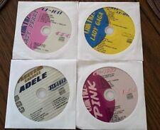 4 CDG DISCS SET KARAOKE HITS OF ADELE,KATY PERRY,PINK & LADY GAGA MUSIC CD CD+G