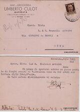 # MACERATA: UMBERTO CULOT - Bar - Drogheria..richiesta funghi secchi  1943