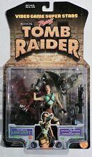 ESS0071. Video Game Super Stars TOMB RAIDER Action Figure LARA CROFT (1997) NIB