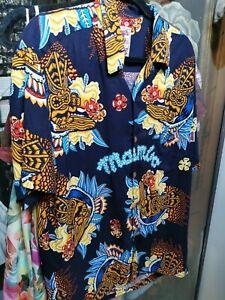 Mambo Loud men's vintage shirt - fabulous 'Tiki' design - immaculate