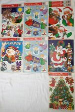 8 x Super Signs Vintage Static Cling Christmas Kit Window Decorations