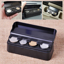 Black Car Interior Coin Case Organizer Plastic Storage Box Holder Container