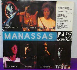 STEPHEN STILLS -MANASSAS EP ~ RARE ATLANTIC Picture Sleeve 7 K10147