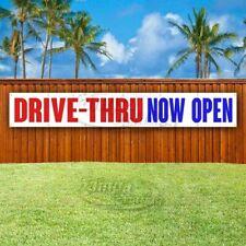 Drive Thru Now Open Advertising Vinyl Banner Flag Sign Large Huge Xxl Size