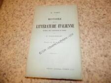 1912.Histoire de la littérature italienne.Finzi