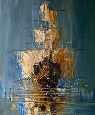 """Canvas Painting Abstract Old Ship Print Wall Art Home Bar Office Picture 20""""x24"""""""
