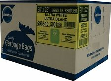 "Garbage Bags – White - 20"" x 22"" - 500 per Case - Free Shipping"