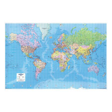 MAP World MAP 3d Effect Giant Unframed 315 Miles to 1 Inch Scale GWLD