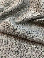 FRENCH DESIGNER BOUCLE FABRIC Textured WOOL TWEED GOLD LUREX Jacket Fleece 1,0M