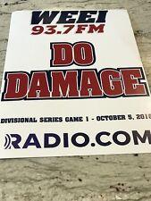 "BOSTON RED SOX -OCTOBER BASEBALL- WITH 2018 POSTSEASON THEME""""DO DAMAGE"" SIGN"