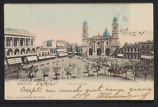 URUGUAY 11 -MONTEVIDEO -Plaza Constitución (Sent to México 1905)(Undivided Back)