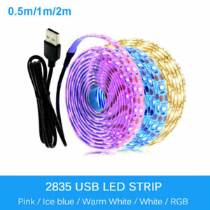 5V USB LED Strip Light 1M 2M Pink /blue / Warm White / White / RGB 2835 TV light
