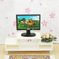 1Pc 1/12 Dollhouse Miniature Flat Screen TV Television Dollhouse Accessor SE