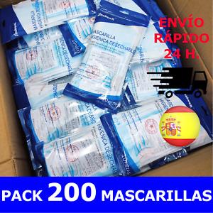 *** OFERTA *** PACK 200 MASCARILLAS 3 CPS.   ALTA CALIDAD   ENVÍO DESDE ESPAÑA