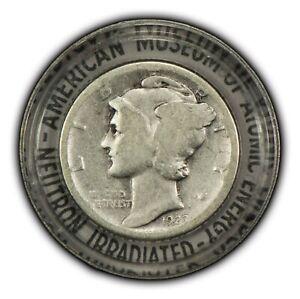 Neutron Irradiated American Museum of Atomic Energy Encased Mercury Dime - Y3054