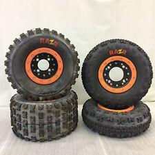 Hiper CF1 Beadlock Rims Maxxis Razr Tires Front/Rear XC Kit Honda 450R 400EX 450
