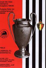 1985 FINALE DI COPPA EUROPA JUVENTUS V programma LIVERPOOL Nuovo di zecca