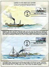 OVERSIZED Steamboat Booklet Issue of March 3, 1989 Hand-colored set of 6 FDC's
