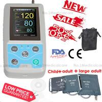 24h PNI Holter, Tensiomètre ambulatoire, 3 poignets, logiciel