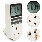 LCD Digital Programmable Timer Switch Socket Electronic UK Plug 12/24 Hours Time photo
