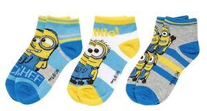 3er Pack Disney Minions Söckchen Socken Strümpfe Gr. 27 - 38 NEU und OVP